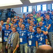 Rathausempfang 1.FC Magdeburg vom Oberbürgermeister